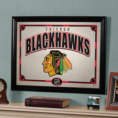 Http Familybedding Com 1 866 925 6650 Products Chicago Blackhawks Nhl Framed Glass Mirror Html