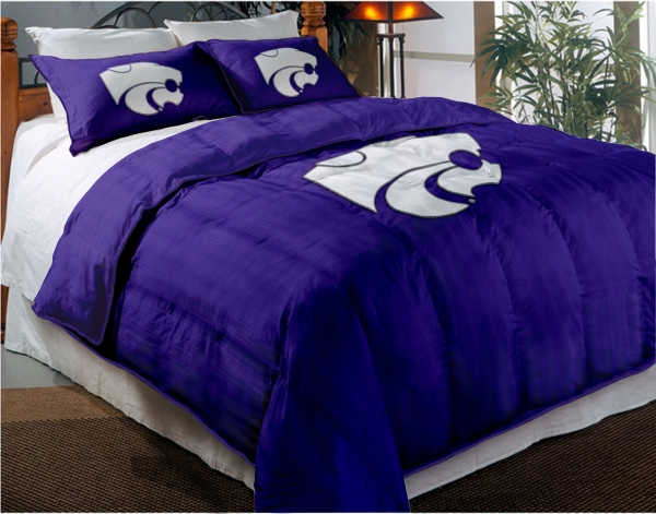 Kansas State Wildcats College Twin Chenille Embroidered