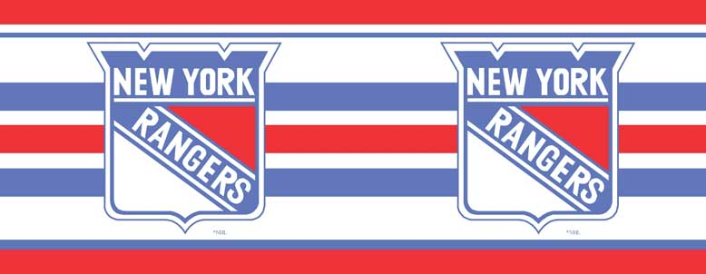 New York Rangers 7 Tall Wallpaper Border