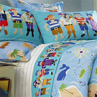 Pirates Queen Comforter Sheet Set