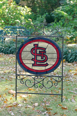 St Louis Cardinals Mlb Stained Glass Outdoor Yard Sign