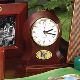 Kansas City Royals Mlb Brown Desk Clock