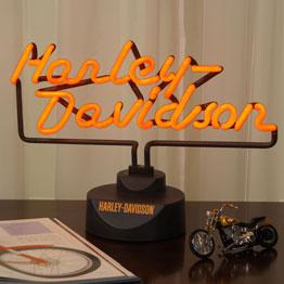 Harley Davidson Motorcycle Neon Script Table Lamp