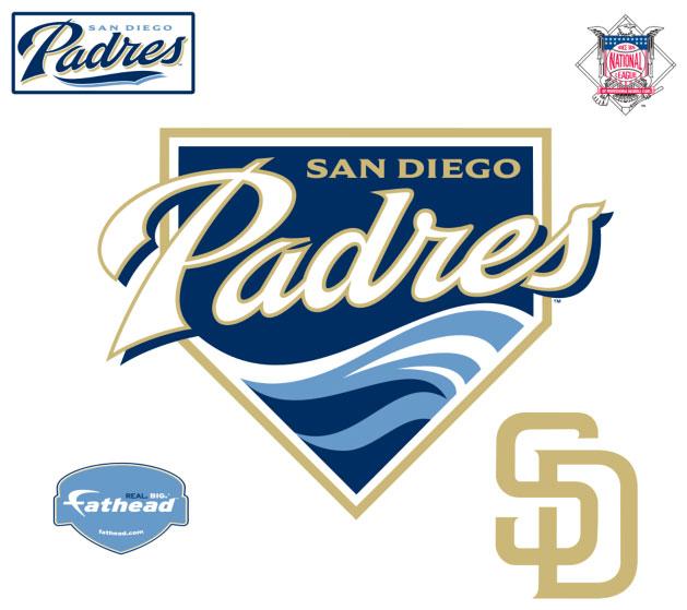 San Diego Padres Logo Fathead Mlb Wall Graphic
