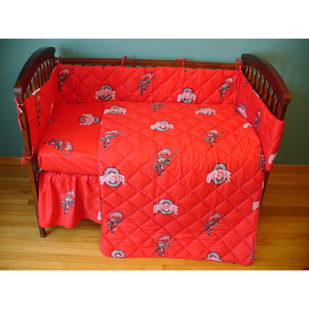 Ohio State Buckeyes Crib Bed In A Bag Red