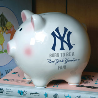 New York Yankees Mlb Ceramic Piggy Bank