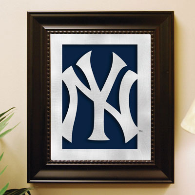 New York Yankees Mlb Laser Cut Framed Logo Wall Art