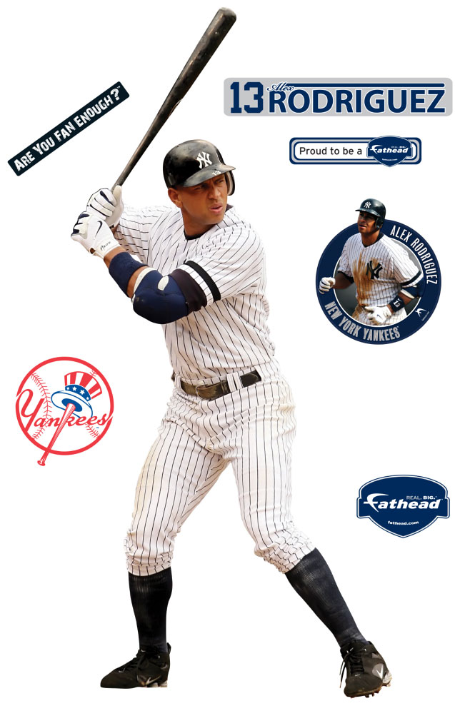 Alex Rodriguez Fathead Mlb Wall Graphic