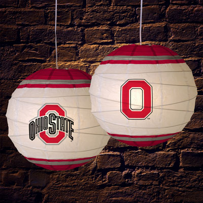 Ohio State Osu Buckeyes Ncaa College 18 Quot Rice Paper Lamp