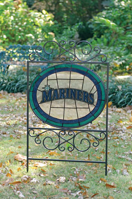 Seattle Mariners Mlb Stained Glass Outdoor Yard Sign