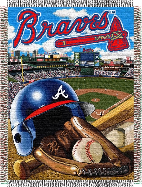 "Atlanta Braves Bedroom Decor: Atlanta Braves MLB ""Home Field Advantage"" 48"" X 60"