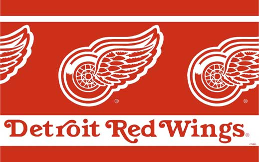 Red And Black Crib Bedding Detroit Red Wings Wallpaper Border