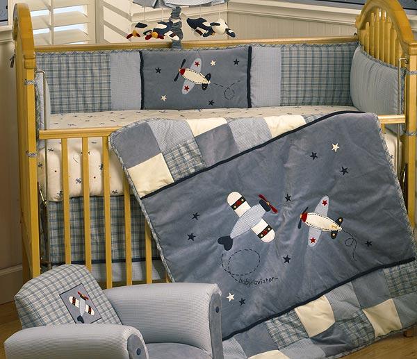 Aviator  Piece Crib Bedding Set
