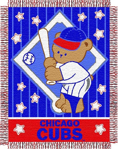 Chicago Cubs Mlb Baby 36 Quot X 46 Quot Triple Woven Jacquard Throw