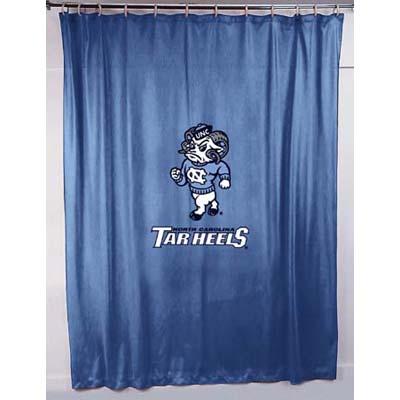 North Carolina Tarheels UNC Locker Room Shower Curtain Zoom