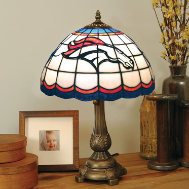 Denver Broncos Nfl Stained Glass Tiffany Table Lamp