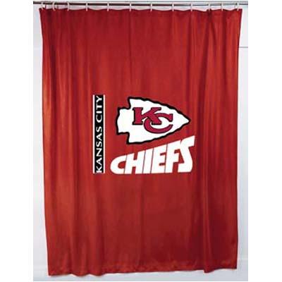 Kansas City Chiefs Locker Room Shower Curtain Zoom
