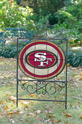 San Francisco 49ers Nfl Stained Glass Outdoor Yard Sign