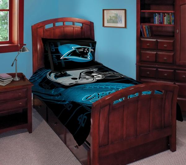 """carolina panthers nfl twin comforter set 63"""" x 86"""""""