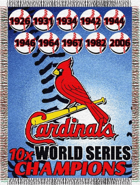 St Louis Cardinals MLB Commemorative 40 X 40 Tapestry Throw Inspiration St Louis Cardinals Throw Blanket