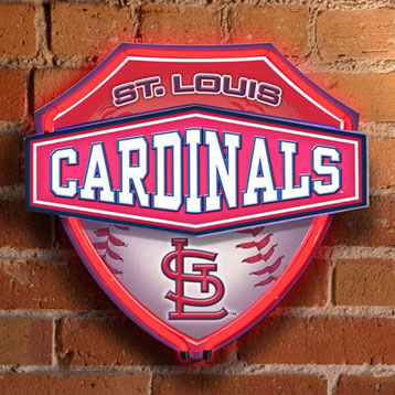 St Louis Cardinals Mlb Neon Shield Wall Lamp