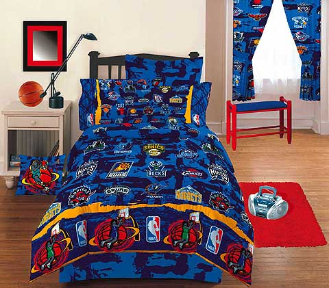 Nba Hoops Twin Bed Skirt