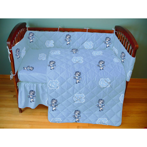 University Of North Carolina Tarheels Crib Bed In A Bag Blue