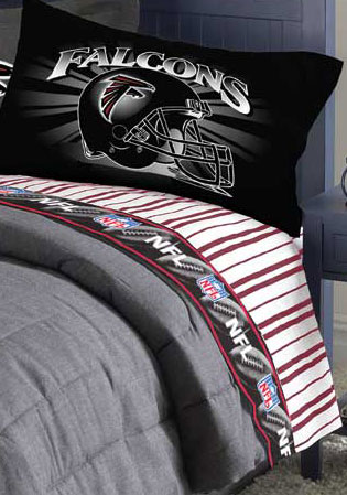 Atlanta Falcons Queen Size Pinstripe Sheet Set