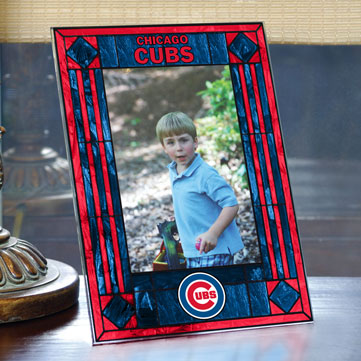 Chicago Cubs Mlb 9 Quot X 6 5 Quot Vertical Art Glass Frame
