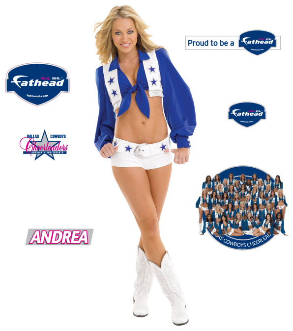 Andrea Richards Fathead Dallas Cowboys Cheerleader Wall