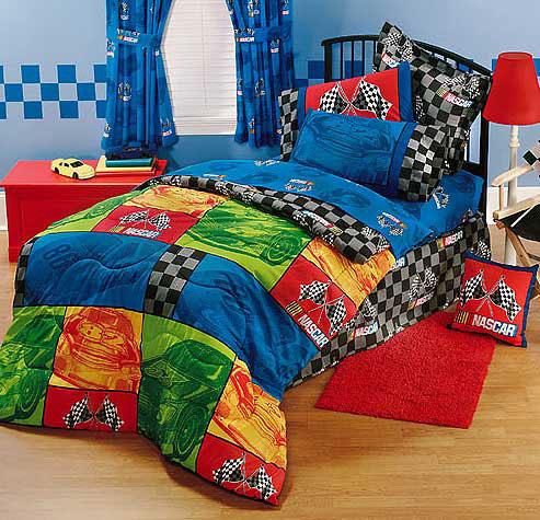 NASCAR Bedrooms Under NASCAR In The Race Bedding Room Decor