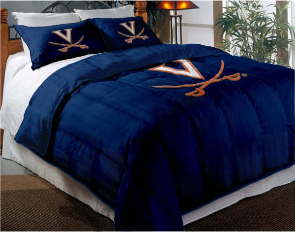 Virginia Cavaliers College Twin Chenille Embroidered Comforter Set With 2 Shams 64 Quot X 86 Quot
