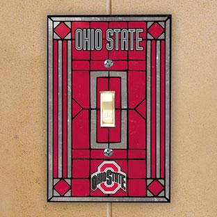 Ohio State Osu Buckeyes Ncaa College Art Glass Single