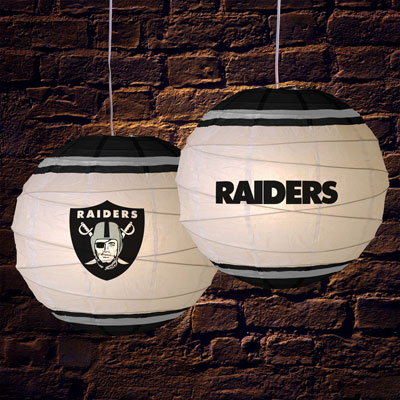 Oakland Raiders Nfl 18 Quot Rice Paper Lamp
