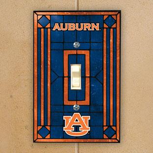 Auburn Tigers Ncaa College Art Glass Single Light Switch