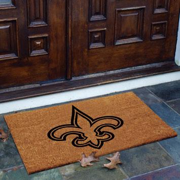 New Orleans Saints Nfl Rectangular Outdoor Flocked Door Mat