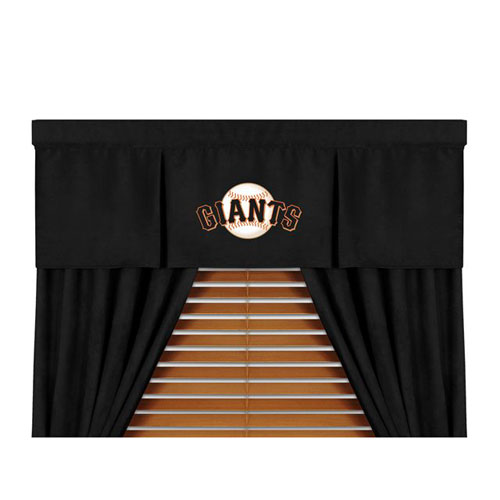 San francisco giants mlb microsuede window valance - Sf giants wallpaper border ...