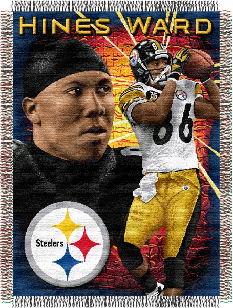 Hines Ward Nfl Quot Players Quot 48 Quot X 60 Quot Tapestry Throw