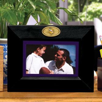 Minnesota Vikings Nfl 8 Quot X 10 Quot Black Horizontal Picture Frame