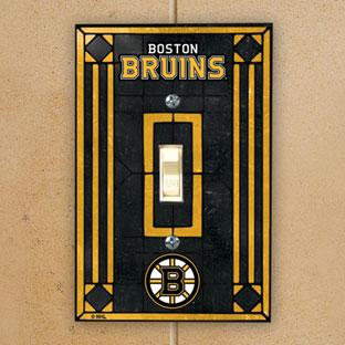 Boston bruins nhl art glass single light switch plate cover - Boston bruins wallpaper border ...