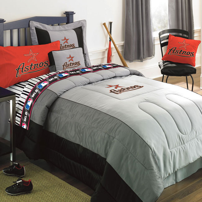 Houston Astros Mlb Authentic Team Jersey Bedding Queen Size Comforter Sheet Set