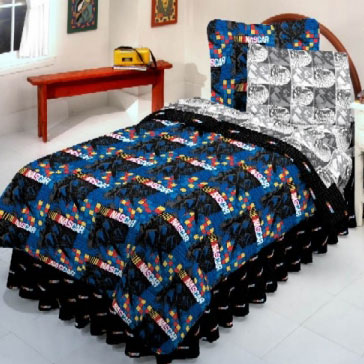 Boys Nascar Twin Size Bedding Set