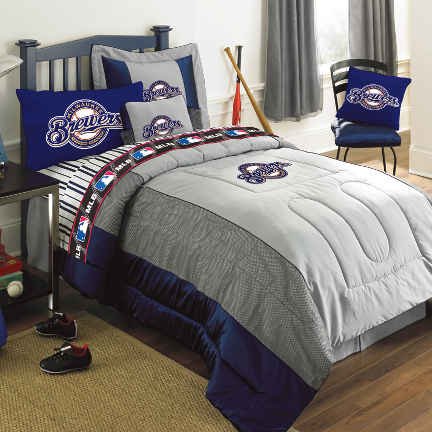 Milwaukee Brewers Authentic Mlb Team Jersey Bedding Twin