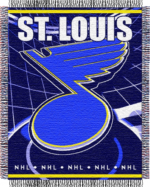 St Louis Blues Nhl 48 Quot X 60 Quot Triple Woven Jacquard Throw