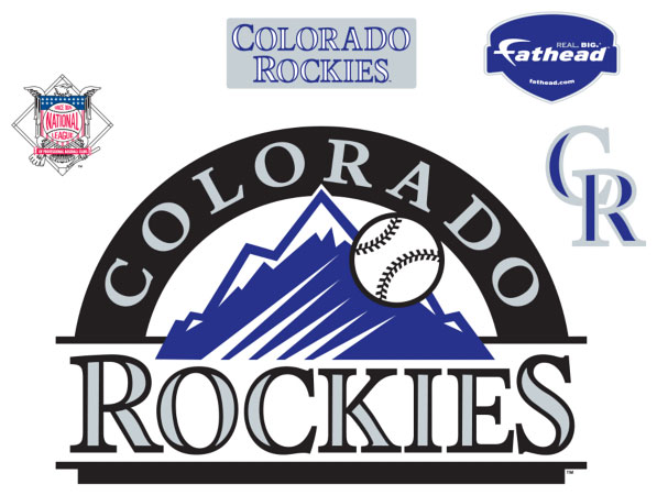 Colorado Rockies Logo Fathead Mlb Wall Graphic