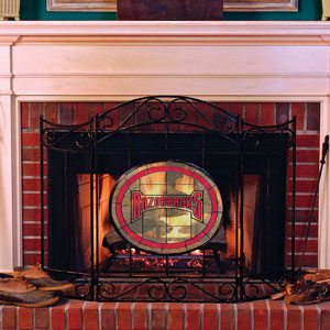 Arkansas Razorbacks Ncaa College Stained Glass Fireplace