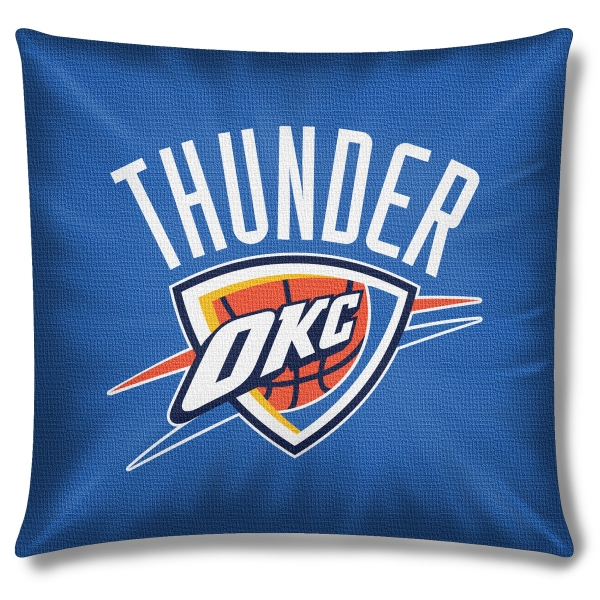 "Okc Thunder Bedroom Decor: Oklahoma City Thunder NBA 18"" X 18"" Cotton Duck Toss Pillow"