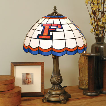 Florida Gators Ncaa College Stained Glass Tiffany Table Lamp