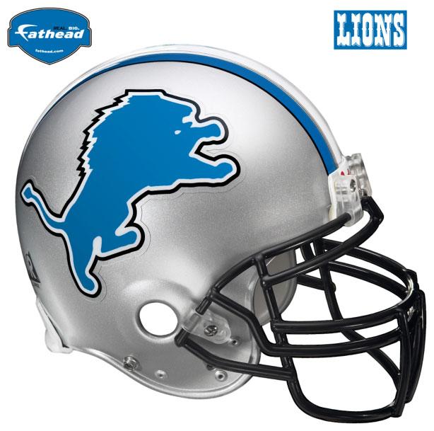 Detroit Lions Helmet Fathead Nfl Wall Graphic