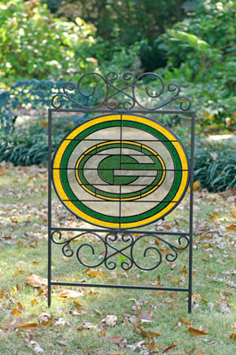 Green Bay Packers Nfl Stained Glass Outdoor Yard Sign